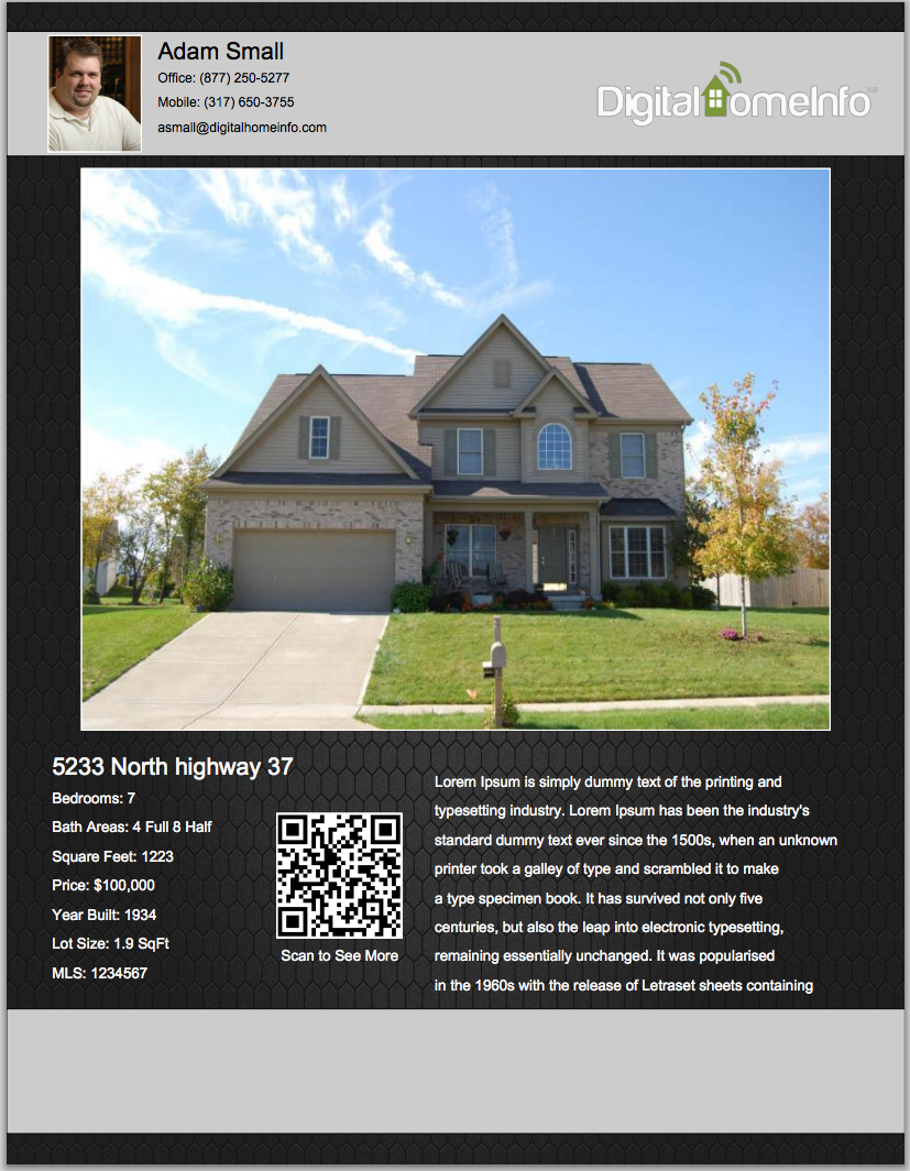real estate listing flyer - Pertamini.co