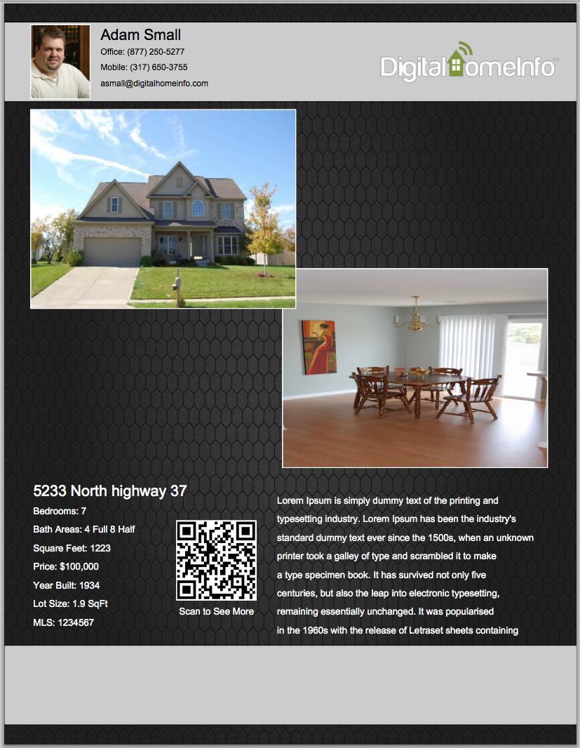 Two Photo Listing Flyer