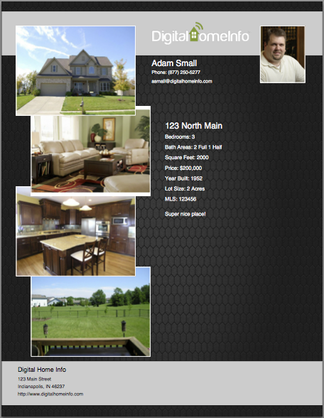 Four Photo Real Estate Listing Flyer
